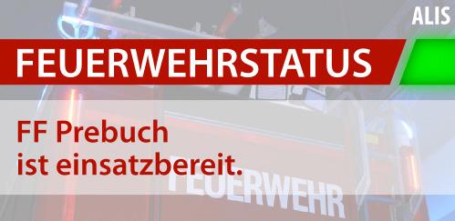 Einsatzstatus FF Prebuch
